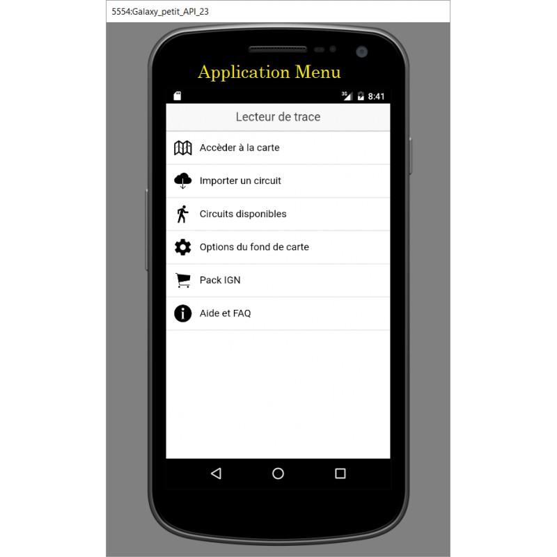 lecteur de trace pour android et iphone randogps boutique. Black Bedroom Furniture Sets. Home Design Ideas