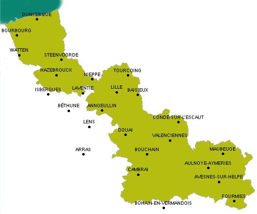 carte du nord 59 - Photo