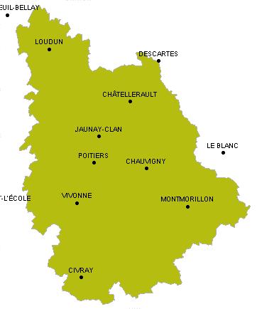 Randonn e p destre trace gps vienne for Habitat de la vienne chatellerault