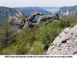 grands-causses - LA ROQUE SAINTE-MARGUERITE - CORNICHE DU RAJOL
