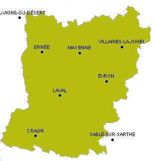 53 Mayenne - Plan - Voyages - Cartes