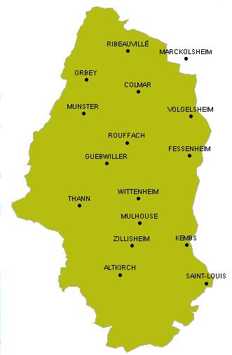 Carte Alsace Sundgau.Randonnee Pedestre Trace Gps Haut Rhin