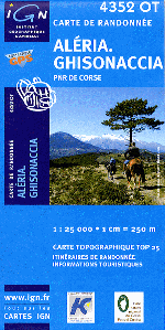 Tour Du Punta Cali Carte Ign Et Topographique De La Trace Gps Pour Cette Randonnee